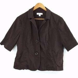 Coldwater Creek brown 2 button jacket